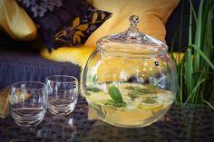 GIMZ - Wasser ist gesund und fördert die Verdauung und Fettverbrennung  -1/2 Gurke schälen und in dünne Scheiben schneiden - 1 unbehandelte Zitrone in dünne Scheiben schneiden -1 Stück Ingwer (2-3cm) waschen und ungeschält in dünne Scheiben schneiden -12 frische Minzblätter -1l Wasser  Alles zusammen über Nacht in den Kühlschrank stellen, damit die Aromen sich entfalten können.