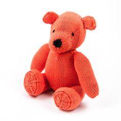 Kenana #Stofftiere Orangeroter #Teddybär, Stofftier, #Bio Baumwolle ca. 30 cm - #Kinder - Handmade - Handarbeit