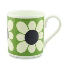 Square Daisy Mug Green