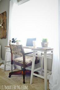 diy barstool desk, diy, painted furniture, repurposing upcycling