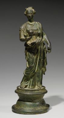 A Bronze Figure of a Goddess, possibly the Muse Urania, Roman Imperial, circa 1st/2nd Century A.D.