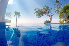 #GoPro half under water and half above water in the pool at #hyatt @visitpuertovallarta #puertovallarta #vacation