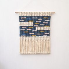 Woven macrame wall hanging / sprinkles no.2 by KateAndFeather