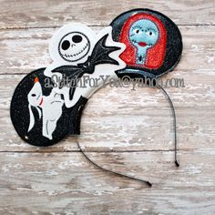 Headband SKELETON Man Girl Dog ITH Mr Miss Mouse Ears Inspired - Birthday Photo Prop - INSTANT Download Machine Embroidery Design by Carrie