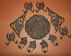 11), Rustic Cast Iron Horse Wall Decor, Fast Free Shipping, Large Horse Plaque, Shelf Brackets, Wall hooks,Rustic Western Americana by wepeddlemetal. Explore more products on http://wepeddlemetal.etsy.com