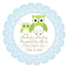 Cute Personalized Baby Shower, Baptism Favor / Gift Tags - Printable DIY File via Etsy