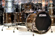 Tama Starclassic Performer Limited Edition Exotix 5pc Drum Set Black Lacebark Pine w/ Black Nickel HW