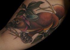 platypus. Derrek Everette - Broken Art Tattoo