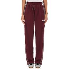 adidas Originals by Alexander Wang Women's Jersey Track Pants ($220) ❤ liked on Polyvore featuring activewear, activewear pants, burgundy, adidas activewear, reversible jersey, red track pants, track pants and adidas sportswear