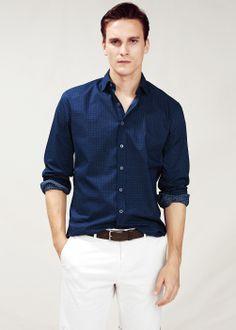 summer color combo, white x blue // menswear style + fashion