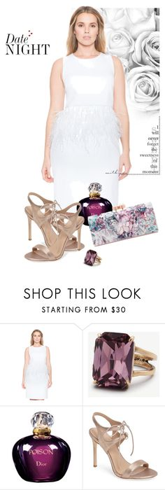 """""""Date Night💋"""" by michelledevon ❤ liked on Polyvore featuring Ann Taylor, Christian Dior, Pour La Victoire and Ted Baker"""