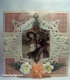 Anja Zom kaartenblog: juli 2013 Marianne Design, Picture Cards, Graphic 45, Vintage Cards, Vintage Christmas, Arts And Crafts, Joy, Frame, Pretty