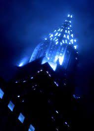 chrysler building night fog - Google Search