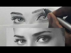 How I Draw Realistic Eyes and Eyebrows - YouTube