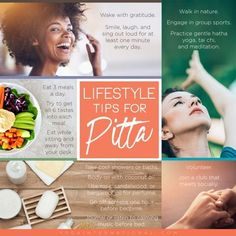 lifestyle tips for Pitta