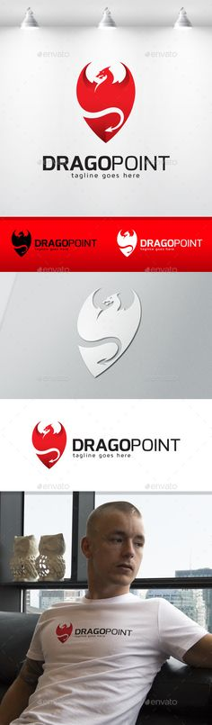 Dragon Point Logo — Vector EPS #creative #forum • Available here → https://graphicriver.net/item/dragon-point-logo/12760867?ref=pxcr