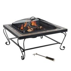Copper Inlay Slate Fire Pit, L-FT456PST at The Home Depot - Mobile