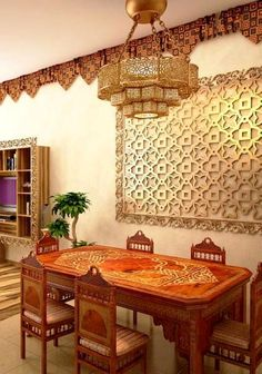 60 Comfy Moroccan Dining Room Design You Should Try. Tired of looking at the same bedroom, same dining room and same living room again and again? Then it's time for a change. This time to not just c. Moroccan Home Decor, Moroccan Furniture, Moroccan Interiors, Moroccan Design, Moroccan Style, Moroccan Bedroom, Moroccan Lanterns, Teak Furniture, Dining Room Design