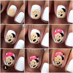 Minnie's nailart #disney