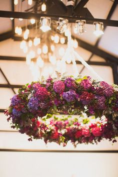 floral wreath - downscale it and use your garden hydrangeas
