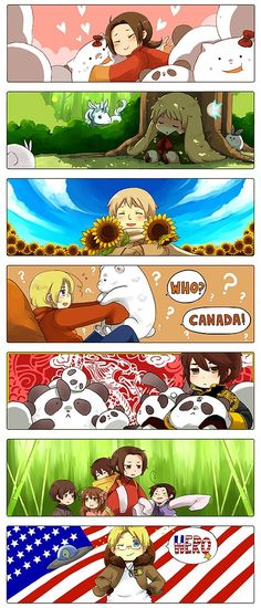 Hetalia APH - Bookmarks by ryo-hakkai - My favorite ones would be the top with China, then Canada, and Hong Kong! (^o^)