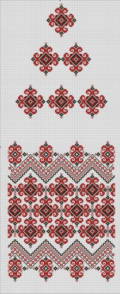 Embroidery for a Ukrainian ceremonial Rushnyk (Embroidered towel), such as a Wedding, and to put around an religious icon. Learn Embroidery, Crewel Embroidery, Hand Embroidery Designs, Cross Stitch Embroidery, Embroidery Patterns, Indian Embroidery, Cross Stitch Borders, Cross Stitch Charts, Cross Stitch Designs