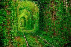 17 Increibles Lugares - Tunel del amor/Ucrania