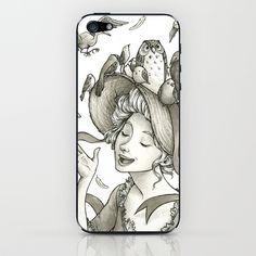 Birds on a Bonnet iPhone & iPod Skin by Melani Huggins - $15.00