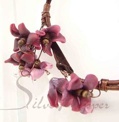 "Necklace ""Cyclamens"" 