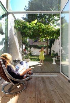 Outdoor Spaces, Outdoor Living, Outdoor Decor, Norway House, Architecture Courtyard, Building Renovation, Terrace Garden, Small Gardens, Winter Garden