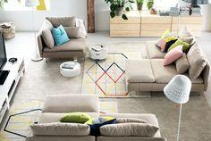 Söderhamn modulares Sofa in beige von IKEA