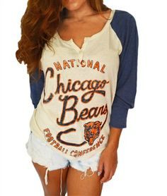 Chicago Bears Rookie Raglan long-sleeved top by Junk Food