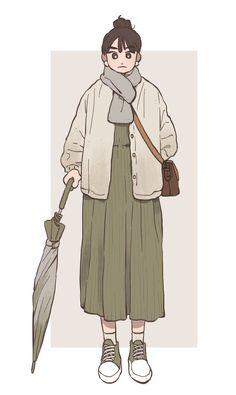 LoLi KunG - 【Nightcore】- Taiyou to Himawari Art And Illustration, People Illustration, Character Illustration, Cartoon Kunst, Cartoon Art, Aesthetic Art, Aesthetic Drawing, Cute Art Styles, Korean Art
