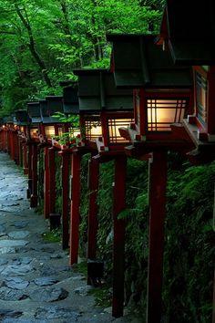 lanterns along the pathway