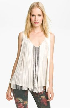 Haute Hippie Beaded Fringe Tank available at #Nordstrom