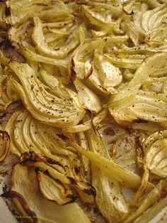 Roasted Fennel with Lemon....this is a GREAT way to use up the fennel in our garden! A very yummy way to cook the fennel.