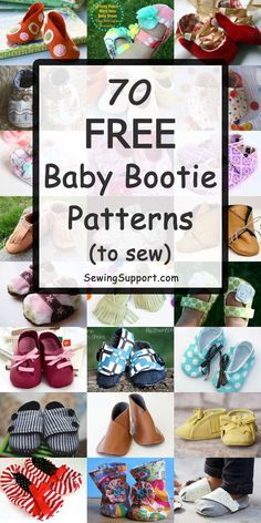 Free Baby Shoes Patterns Free Baby Bootie sewing patterns, tutorials, and diy projects. Sew fabric, leather, and felt baby shoes & slippers. Mary Janes and booties included. Felt Baby Shoes, Baby Boy Shoes, Crib Shoes, Baby Sewing Projects, Sewing Projects For Beginners, Sewing Tips, Sewing Hacks, Sewing Ideas, Baby Sewing Tutorials
