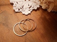 Thin gold ring Thumb finger pinky Stack Ring 3 by treasureimports, $28.00