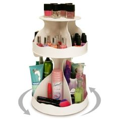 Pretty neat!  Makeup organizer that spins!