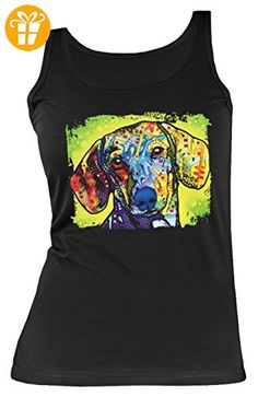 Damen Tanktop Neon Dachshund Shirt 4 Girls Beach Tank Top Lady Geburtstag Geschenk geil bedruckt (*Partner-Link)