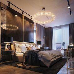 Apartment in kiev - dezign ark (beta) dark interiors, luxury interior, inte Luxury Bedroom Design, Luxury Home Decor, Luxury Interior, Modern Bedroom, Home Interior Design, Luxury Homes, Bedroom Decor, Bedroom Ideas, Master Bedroom