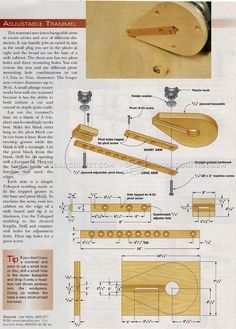 Adjustable Router Trammel - Router