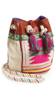 HIPANEMA Crossbody Bucket Bag - cute summer tote bag...perfect to drag to the pool or the beach