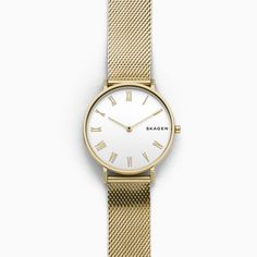 f7e3f8c7d53 Hald Slim Gold-Tone Silk-Mesh Watch