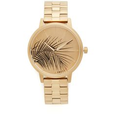 Amuse Society by Nixon The Kensington Watch - Women's Watches in All Gold Marc Jacobs, Kate Spade, Leaf Jewelry, Gold Jewellery, Jewelry Box, Jewelery, Stainless Steel Case, Michael Kors Watch, Women's Accessories