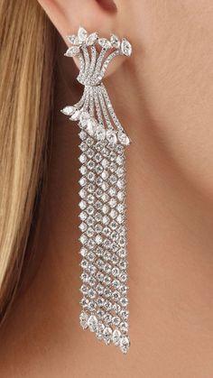 Diamond Earrings, Drop Earrings, Jewelery, Designers, Diamonds, Gems, Elegant, Stone, Bracelets