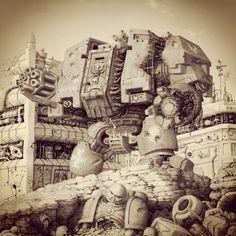 "allthingswarhammer: "" Description: #warhammer #titan Author: 2185gafoo on Instagram Source: http://ift.tt/1L43Yfa Date: October 03, 2015 at 12:36PM """