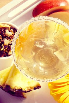 This fancy tea is just begging to be sipped out of a champagne flute.  Shop Pineapple Mimosa tea online.