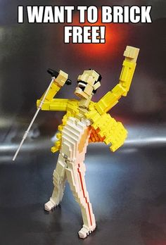 lego freddy mercury....badass  Brilliant! Plus now I have an earworm...