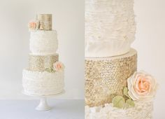 How gorgeous is this 'gold' design from The Abigail Bloom Cake Company